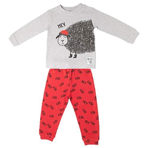 BABY-BOL 8528-20525-ROJO-4 - Pijama Niños Oveja niños Color: Rojo Talla: 4