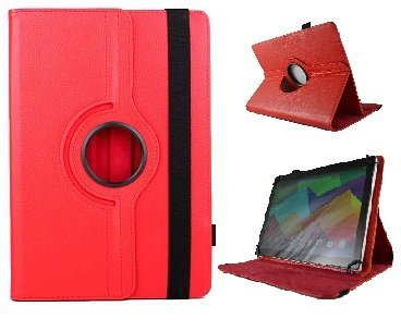 theoutlettablet Funda Giratoria 360º para Tablet SPC Glow/Gravity/Heaven/Twister 10.1' - ROJA