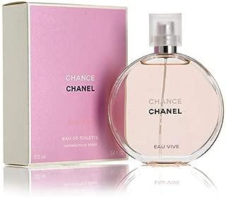 Chanel Chance Eau Vive Eau de Toilette Spray for Women, 3.4 Ounce