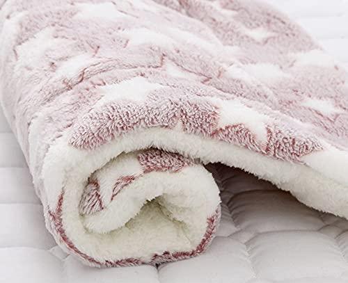 Manta de forro polar suave y grueso para mascotas, alfombrilla de cama de franela para cachorro, perro, gato, sofá, cojín para el hogar, manta para mantener caliente para dormir