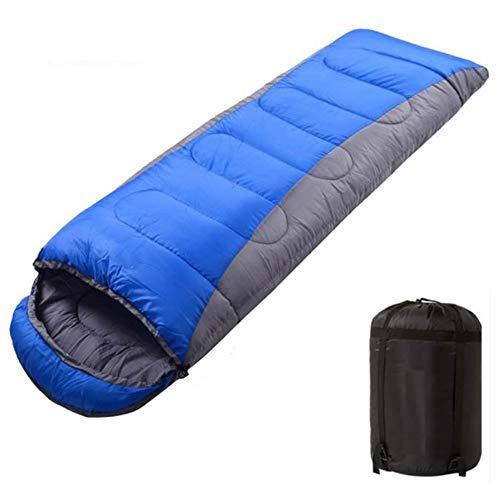 Midsy Sacco a Pelo a Compressione Premium Sacco a Pelo Outdoor Mumienschlafs Inverno Spesso Outdoor Camping Sacco a Pelo Blu Grigio Self-Drive Camping Sacco a Pelo Cuscino
