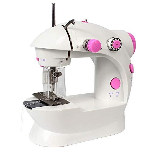 NEX - Mini máquina de coser con pedal (2 velocidades, para principiantes)