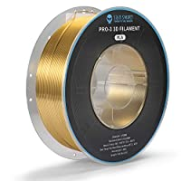 SainSmart シルク PLA フィラメント、PRO-3 糸絡み防止 1.75mm 3D プリンター フィラメント、寸法精度+/- 0.02mm、 1KG/2.2 LBS スプール、シルク ブルー (金)