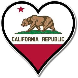 AK Wall Art California Flag Heart Vinyl Sticker - Car Window Bumper Laptop - Select Size