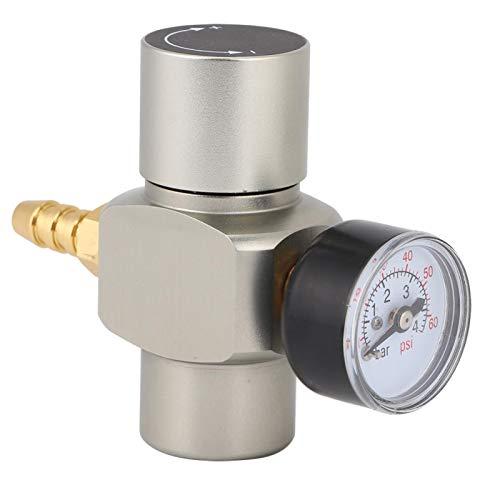 Leylor Manómetro -3/8in Conector rápido CO2 Mini regulador Manómetro para contenedor de refrescos Barril de Cerveza