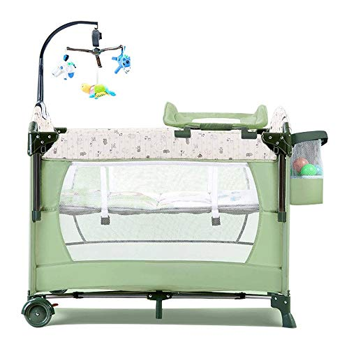 Find Bargain Yyqt Baby Cot,Baby Changing Station Travel Cot, Travel Bed for Children, Folding Cot,...