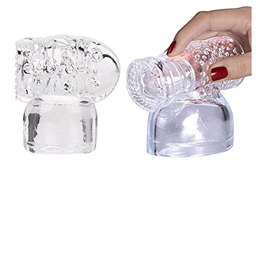 Massager Attachments Massage Head Caps Accessories Silicone - Two Different Styles (Clear)