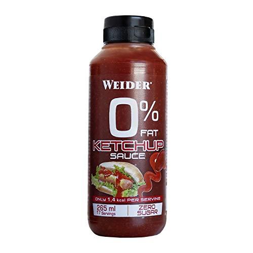 Weider Salsa Zero Ketchup. Salsa cero grasas. Cero azúcar. 265 ml
