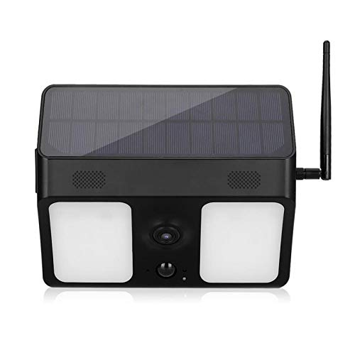 屋外監視用ソーラー充電カメラ音声インターホンIR双方向音声インターホン(black)