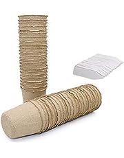KINGLAKE - Pequeñas macetas de semillas de fibra biodegradables para plántulas