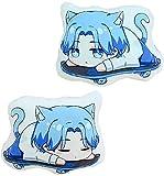 YYOUXIUU Anime SK8 The Infinity Hug Cushion Cute Little Stuffed Animal Throw Plushie Doll Chinen Kyan Reki2 Animal Props for Game Fans Gift 35cm/48cm (Langa,18.89in)