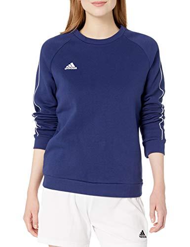 Adidas Core18 - Felpa da donna, Donna, Core18 Sweater, Dark Blue/White, XX-Small