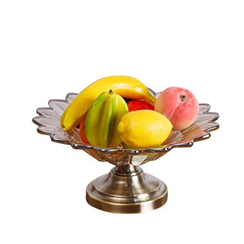 XZJJZ Fruit Dish - Plato De Fruta Crystal, Recipiente De Vidrio, Placa De Aperitivos Cristal De Vidrio Seco, Secado Fuente De Fruta