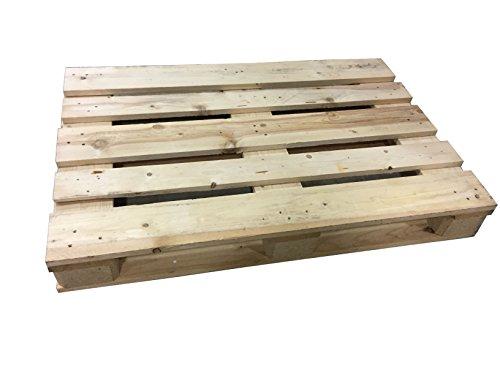 NUOVO PALLET bancale da 80 x 120 cm in legno di colore naturale