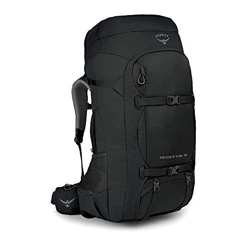 Osprey Farpoint Trek 75 Men's Travel Backpack, Black