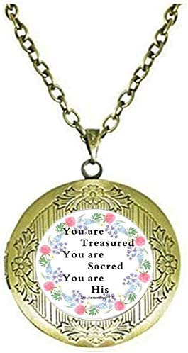 Bible Verse Locket Necklace
