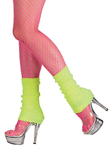 Boland 01752 - Beinwärmer für Erwachsene, neon gelb, Einheitsgröße