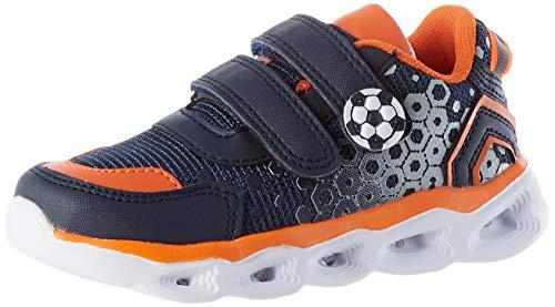 Chicco Scarpa Capitol, Zapatillas de Gimnasia, Azul Y Naranja, 27 EU