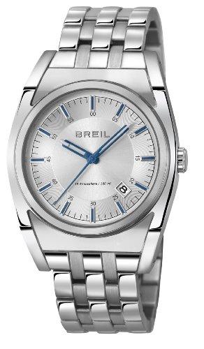 Breil TW0972 - Reloj analógico de Cuarzo Unisex, Correa de Acero Inoxidable Color Plateado