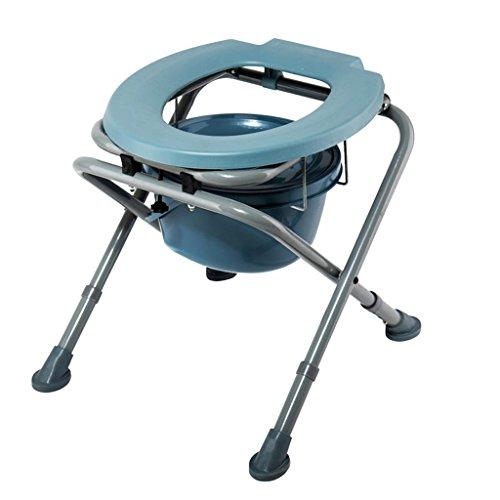 Guo Shop- Commode chaise en acier au carbone pliant à hauteur réglable tabouret de toilette squat enceinte âgée 44 * 48 * (44-48) cm Salle de bain Tabourets