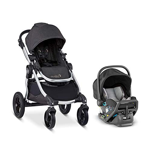 Baby Jogger City Select Travel System | Baby Stroller with City Go 2 Car Seat | Stroller Car Seat Combo with 16 Ways to Ride, Jet