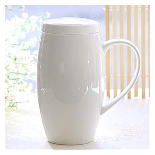 Story 720ml, Taza de mugga de China de Hueso, Termos de Tapa de Porcelana Blanca Llanura, Taza de té poderosa con Tapa, Taza de Cerveza, Vientre Divertido diseñado