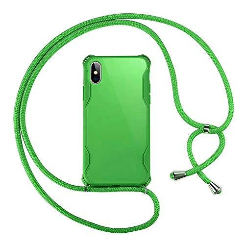 """SevenPanda Schlüsselband Weich für iPhone 6 Hülle, Halskette Ultra Slim Thin Anti-Scratch Stoßdämpfer mit Sling Crossbody Phone Tragegurt für iPhone 6S 4.7""""- Grün"""