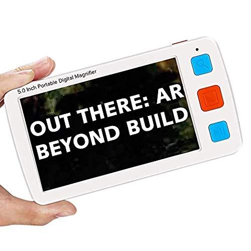 Eyoyo Handheld Leselupen Magnifier Elektronische Lesehilfe 5 Zoll Tragbare Videolupe LCD Bildschirm Sehbehinderte mit 8 LED zum Lesen von 17 Modi (5.0 Zoll)