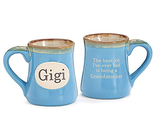 Gigi Handpainted Porcelain 18 oz Coffee Mug