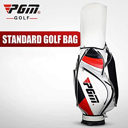 POSMA PGM-QB015 Golftasche mit Ständer – PU Golftasche, kann komplettes Set von Schlägern, 5-Wege-Unterteilung Oben
