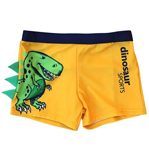 Bañador Niños Boxer de Natación Traje de Baño Natación Playa Estampado Dinosaurio Elástica Pantalones