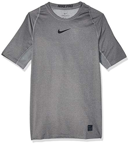 Nike Herren Top Pro Comp, Carbon Heather/Black, XL, 838091-091