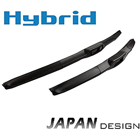 600 Mm 450 Mm Hybrid 2x Front Windscreen Wipers Premium Quality Wiper Blades Set Windscreen Wiper Blades With Hook Attachment Inion New Japan Hybrid Flex Technology Auto