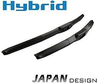 600mm 600mm HYBRID 2x Front Scheibenwischer Premium Qualität Wischerblätter Set Scheibenwischerblätter Satz für Frontscheibe mit Hakenbefestigung. INION NEW JAPAN HYBRID FLEX TECHNOLOGY