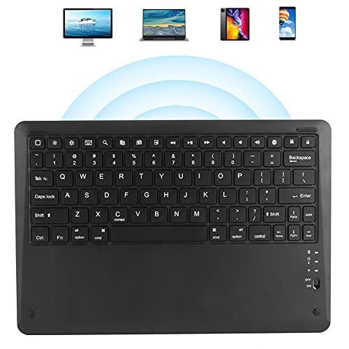 Teclado de teléfono, Teclado inalámbrico Accesorios para computadora Teclado Bluetooth para Exteriores para tabletas Teléfonos móviles, computadoras portátiles para el hogar(Black)