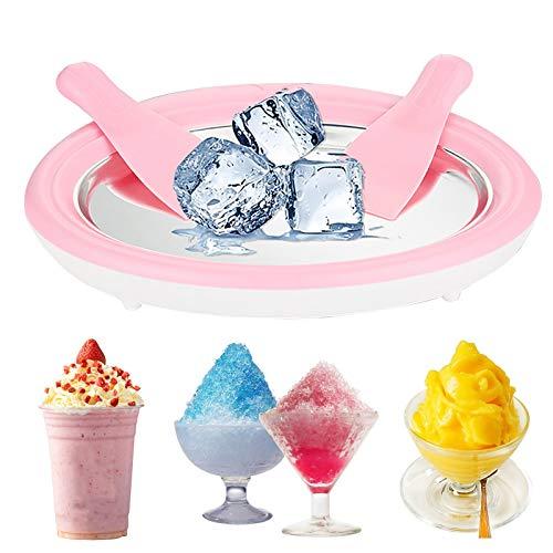 Eisplatte, EIS-Teppanyaki-Platte Zum Zubereiten Von Ice Cream Rolls Aus Speiseeis, Roll Ice Cream Maker Mit 2 Spateln Runde Instant Ice Cream Maker Für Kinder (30X22 cm)
