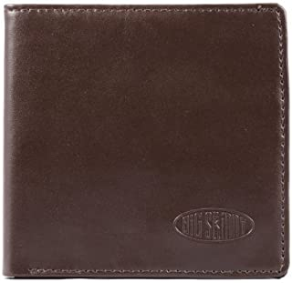 Men's World Leather Bi-Fold Slim Wallet with Zippered Pocket, Holds Up to 35 Cards