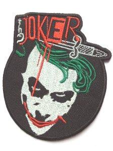 Der Joker Patch Aufnäher Aufbügler 10cm Batman Kostüm Aufnäher Motiv Badge Kostüm Aufnäher Collectible Souvenir Cosplay