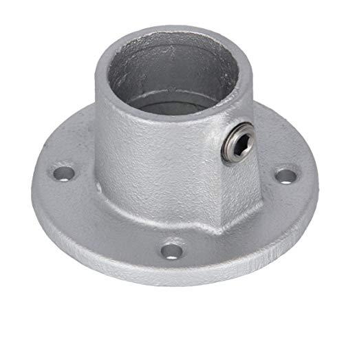 """Rohrverbinder Fußplatte rund 1\"""" (33,7 mm) AVERDE"""