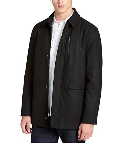 Calvin Klein Mens Melton Jacket, Black, XX-Large