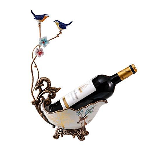 ZHJDX Decoración de Vino Decoración Luz de Lujo Decoración de Alta Gama Decoración de Vino Botella de Vino Rack Personalidad Hogar Rack Creative Exhibir Rack Industria