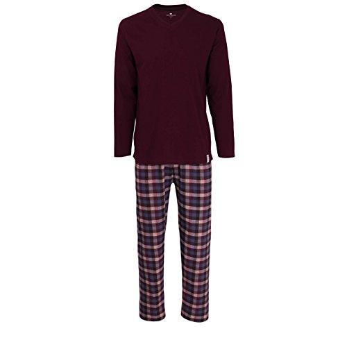 TOM TAILOR Herren Nachtwäsche Zweiteiliger Schlafanzug, Pyjama lang, aus Baumwolle 52