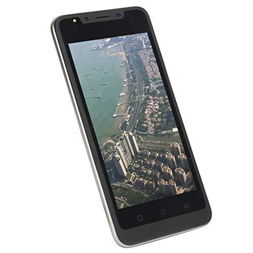 Surebuy Teléfono móvil con Pantalla de 5.0 Pulgadas Que Funciona sin Problemas, cámara HD, teléfono Inteligente con Doble SIM, para oficinistas para niños(Oro)