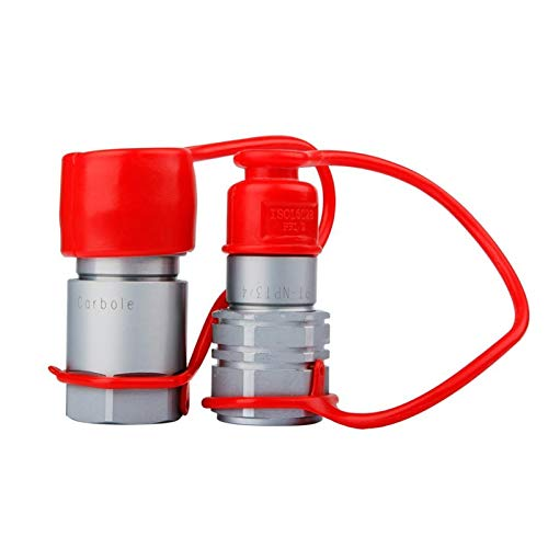 XINXI-YW Diverse TL30 3/4 NPT Thread 1/2 Flat Face Hydraulic Quick Connect Coupler Set Skid Steer sturdy (Color : White)