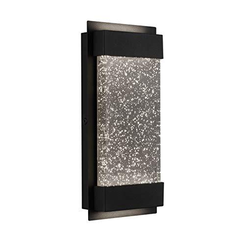 Artika GB390L HDBL Essence Bubble Glow Box - Lámpara LED para porche de 15 cm, resistente a la intemperie, color negro