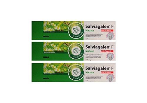 3x Salviagalen F Madaus Zahncreme 75ml PZN 11548356 Zahnpasta