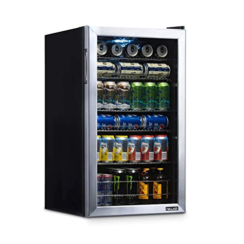 NewAir Beverage Refrigerator Cooler with 126 Can Capacity - Mini Bar Beer Fridge with Right Hinge...