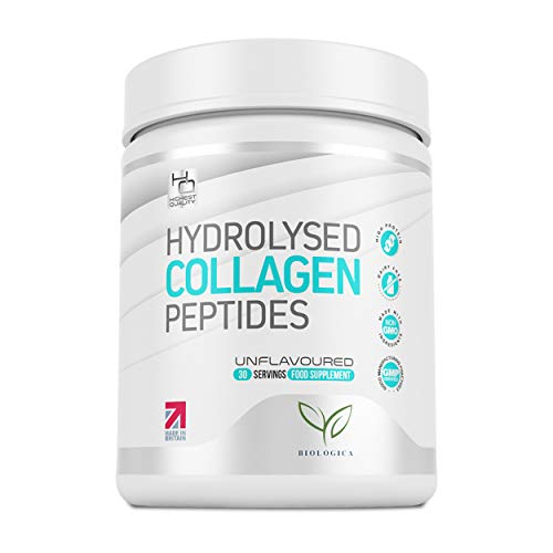 Collagen Powder Peptides - Clinically Proven Supplement for Bones, Joints, Hair, Skin & Nails | 100% Natural Hydrolyzed Bovine Protein - No Sugar, Gluten or Dairy | Paleo & Keto - 1 Month Supply