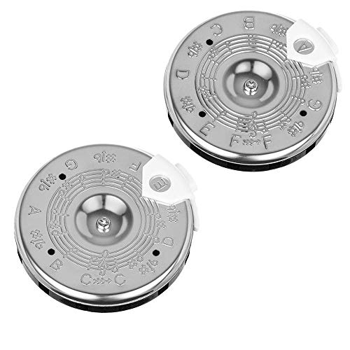 Timiy 13 Tones Pitch Pipe F-F Tuner & 13 Note Pitch Pipe Tuner Tuning C-C for Guitar, Bass and Violin (F-F+C-C)