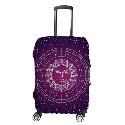 Ruchen - Funda protectora para maleta, diseño del zodiaco del cielo estrellado,...